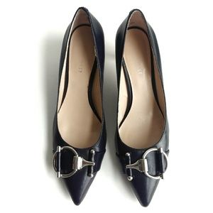 Nine West Navy Pointy Toe Pumps Sz 6